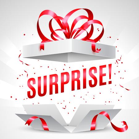 surprise box: Surprise gift box Illustration