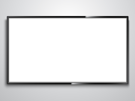 White Screen TV illustration on white background.. Vettoriali