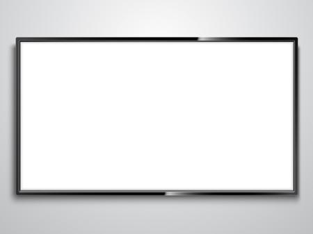 White Screen TV illustration on white background.. Illustration