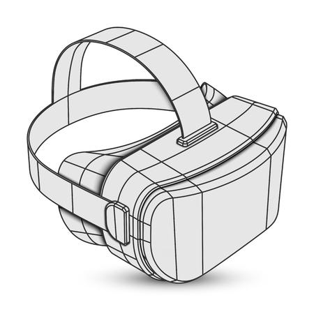 Stereoskopische 3D-Virtual-Reality-Maske oder -Brille