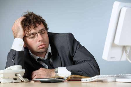 perezoso: Aburrido joven empresario