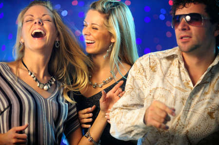 Happy friends in the club Stock Photo