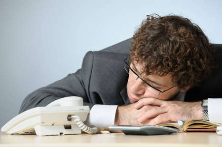 Sleeping businessman Stock Photo