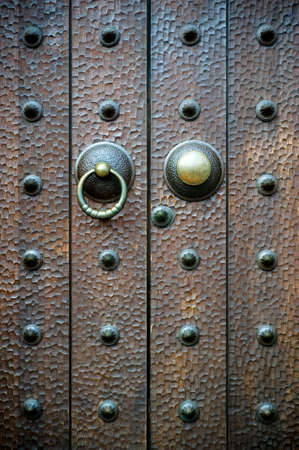 antique keyhole: Old wooden door
