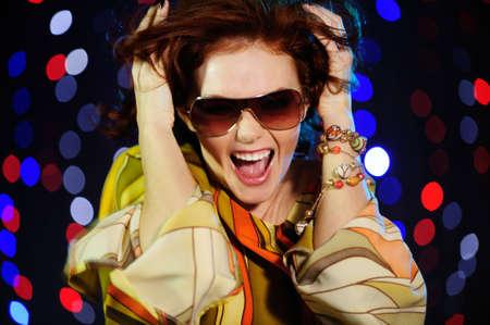 beautiful female shout  photo