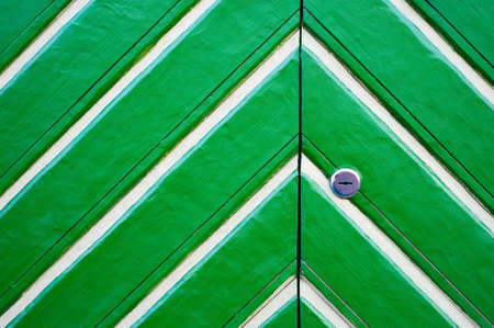 Green wooden door photo