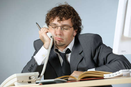 Bored businessman Stock Photo