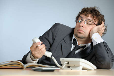 Bored businessman Stock Photo - 4143445