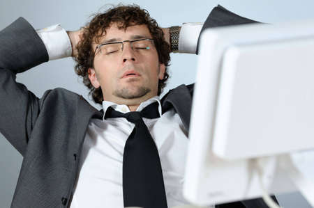 Bored businessman Stock Photo - 4153013