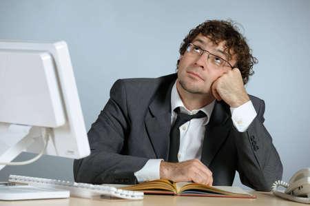 Dreaming businessman photo