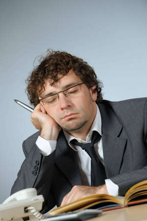 Bored businessman Stock Photo - 4168244