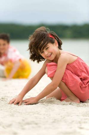 Kids having fun outdoors photo