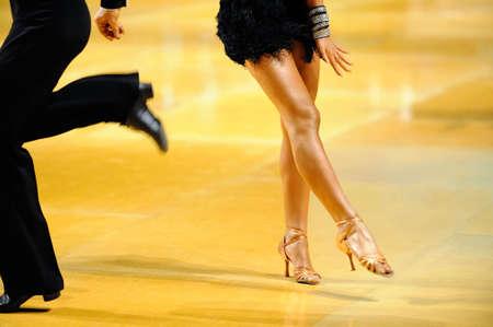 tango dance: couple dancing Stock Photo