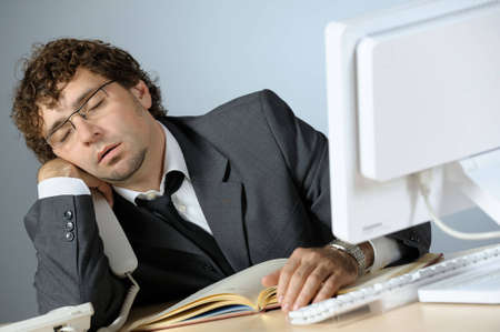 Bored businessman Stock Photo - 4249727