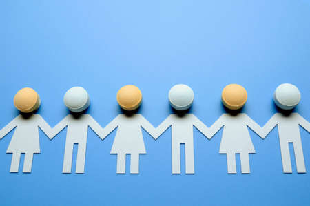 pharmaceutical company: Paper people Stock Photo