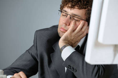 Bored businessman Stock Photo - 4314011