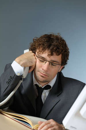 Tired businessman Stock Photo - 4354172