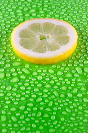 Slice of lemon photo
