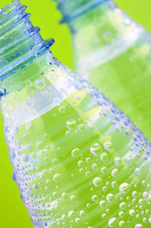 Plastic bottles of water Stock Photo