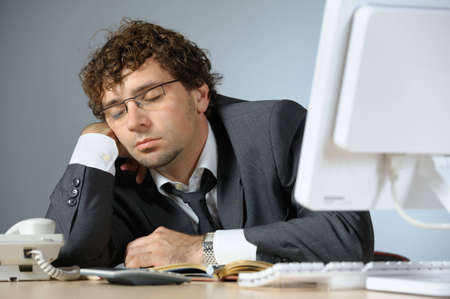 Bored businessman Stock Photo - 4673334