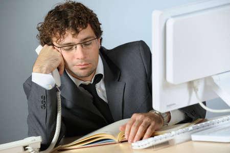 bored man: Bored imprenditore Archivio Fotografico