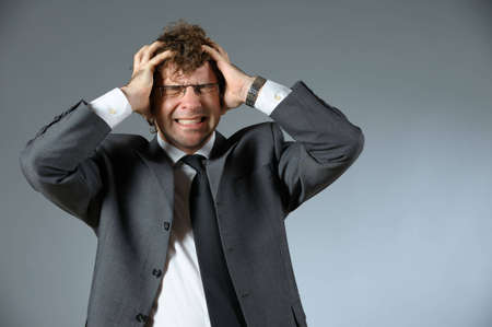 Stressed businessman photo
