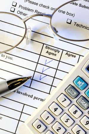 Excelent service customer survey form Stock Photo - 4788262