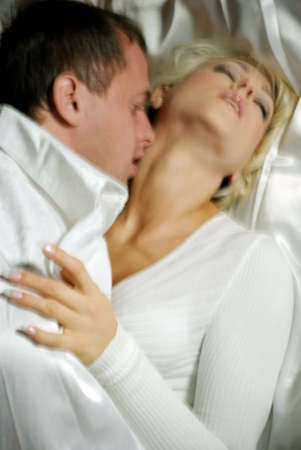 Sensual couple foreplay Stock Photo - 4784537