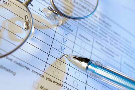 Customer service survey form Stock Photo - 4788278