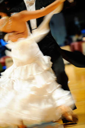 Couple dancing , motion blur Stock Photo