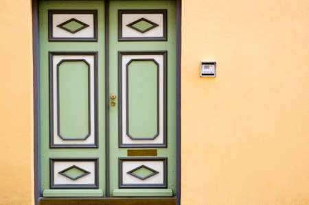 old door and doorbell   photo
