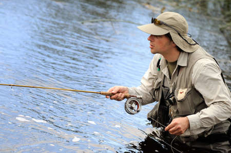 fishing catches: Fly-fisher