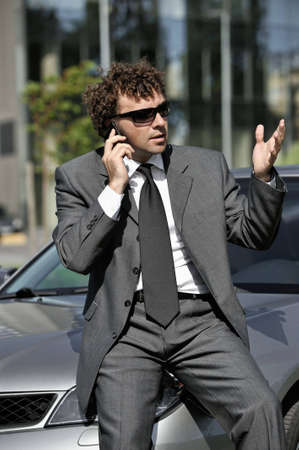 Businessman outdoors photo