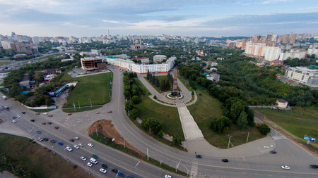 Ufa - the capital of Bashkortostan, where they drink mares milk and go to work on horseback Stock Photo
