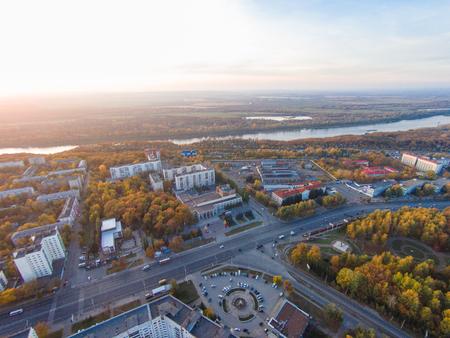 where to go: Ufa - the capital of Bashkortostan, where they drink mares milk and go to work on horseback Stock Photo