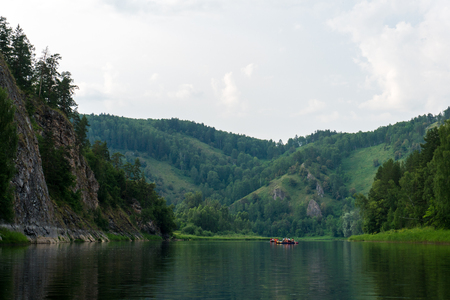 Rafting on the river in the area of the Shulgantash Nature Reserve