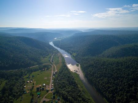 paleolithic: Kapova cave, Shulgan tash nature reserve, Bashkortostan, Russia. Aerial view
