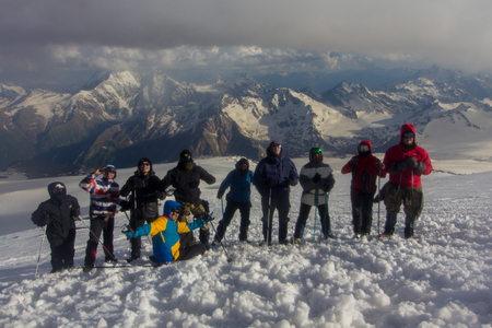 2014 07 Mount Elbrus, Russia: Climbing on mountain Elbrus Editorial
