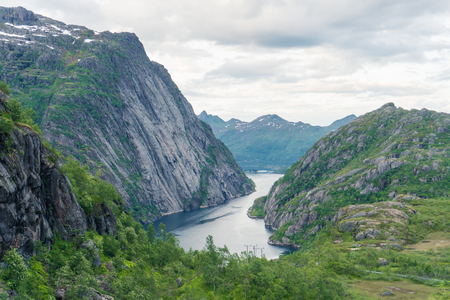 View from mountain to Troll fjord