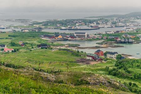 Landschap van dorp in Noorwegen, Scandinavië