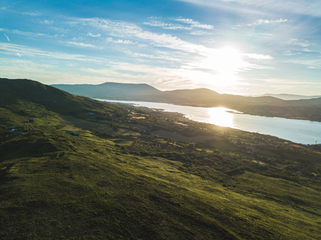 Bere island by drone. Aerial view