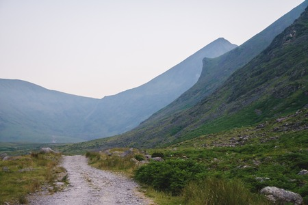 Highland area near of mount Carrauntoohil. At morning