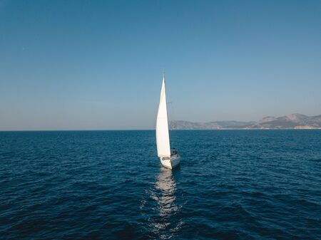 Sailing aerial video in the Turkey Standard-Bild