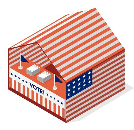 presidential: tent for a vote. United States presidential election vector