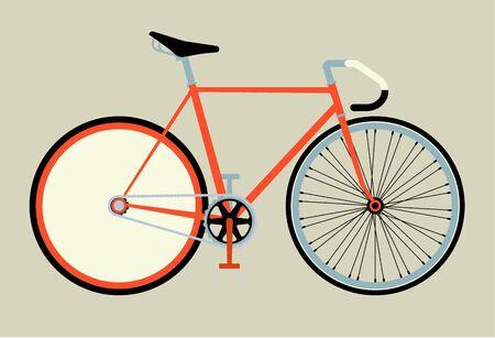 clavados: artes fijos vector de la bicicleta ilustración vectorial esquema plana Vectores