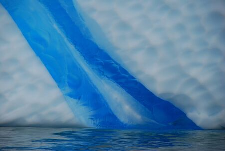 tabular: Blue streak en blanco de iceberg, close up