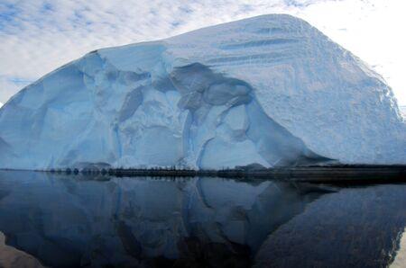 icescape: oval iceberg