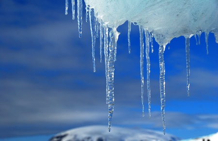 frozen ice in antarctica, blue sky Stock Photo - 9161402