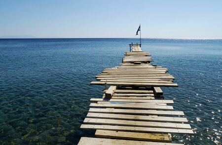 possibility: wooden jetty into the sea