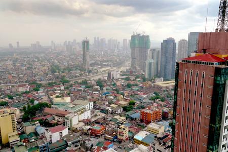 manila: pollution over manila, philippines Stock Photo